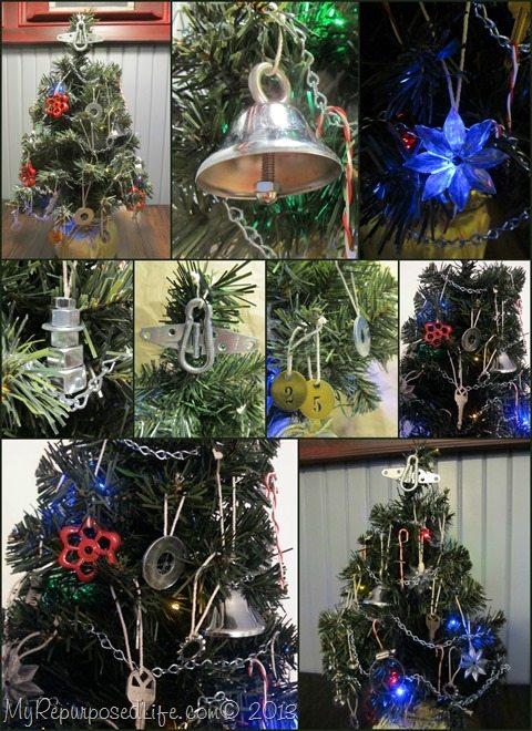 diy hardware Christmas tree decorations