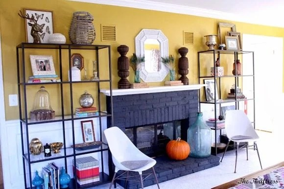 fireplace-makeover-painted-black