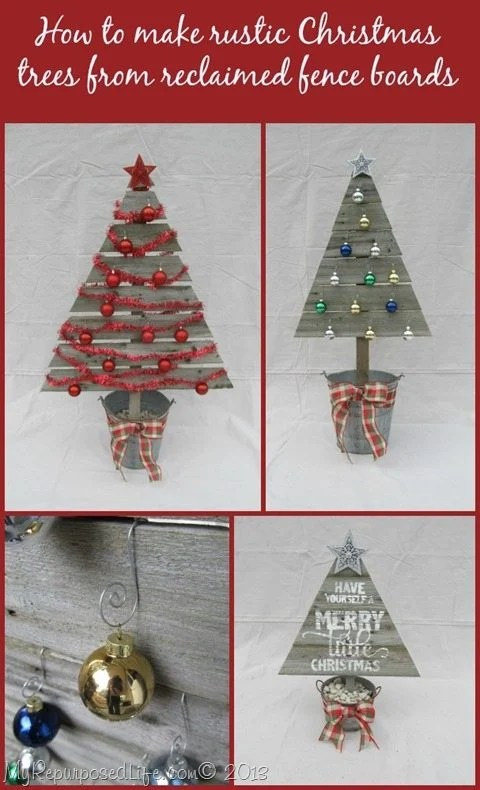 Reclaimed Wood Christmas Trees My Repurposed Life