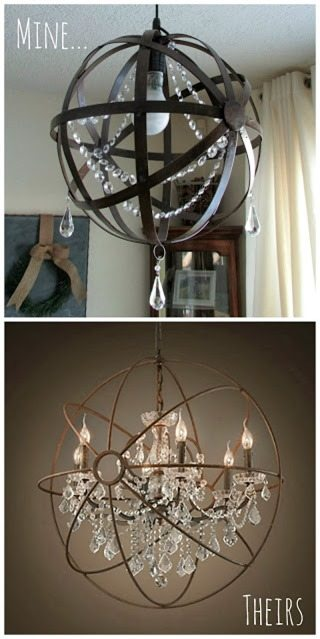 Make Your Own Orb Chandelier