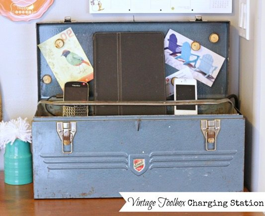 Make A Charging Station out of a Vintage Tool Box