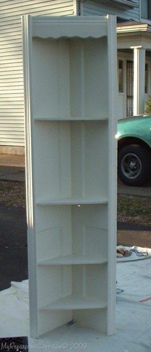 door into corner shelf