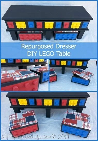 My Repurposed Life- DIY Lego table made from an old dresser