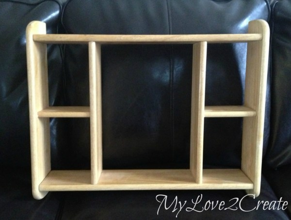 MyLove2Create, upcycled shelf before
