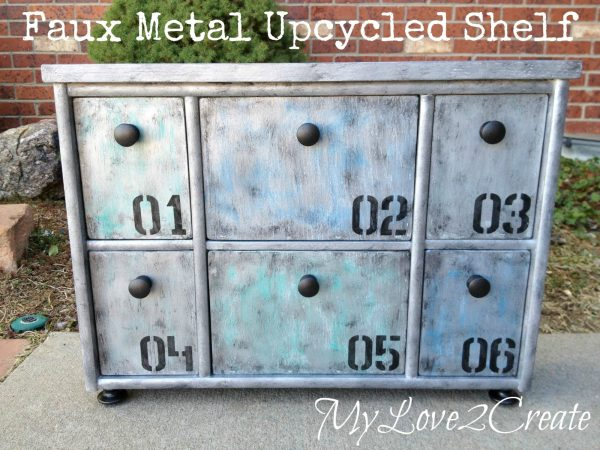 MyLove2Create, Faux Metal Upcycled Shelf