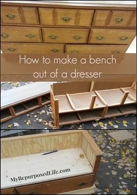 how-to-make-a-bench-out-of-a-dresser