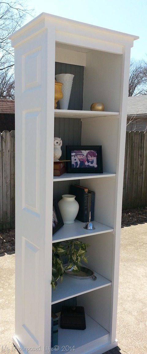 Bi Fold Door Bookshelf My Repurposed Life 174