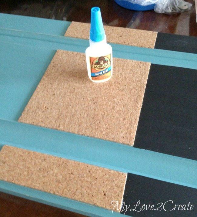 Using gorilla super glue to secure cork