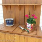 DIY potting table bench