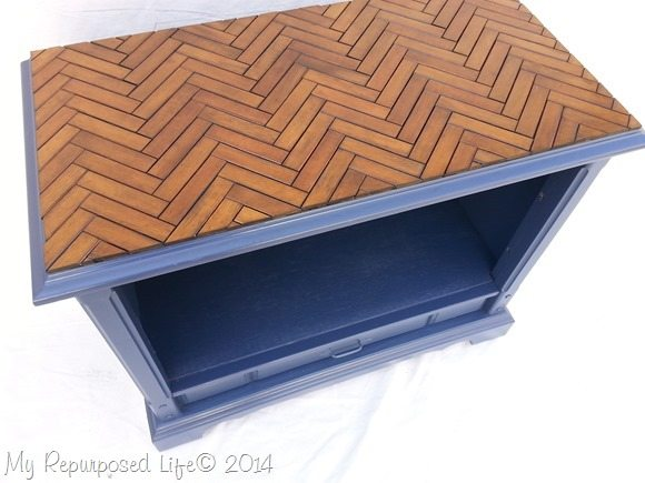 repurposed-tv-cabinet-wooden-slatted-chevron