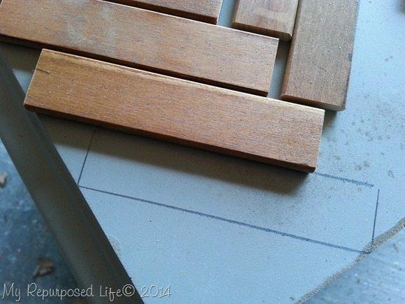 designing chevron table top
