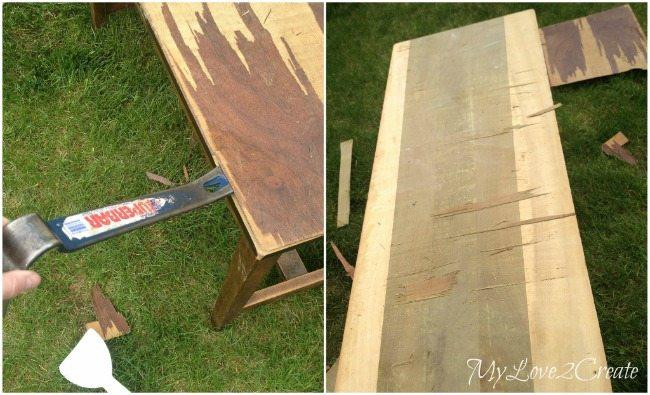 Removing bad veneer