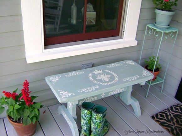 stenciled-bench