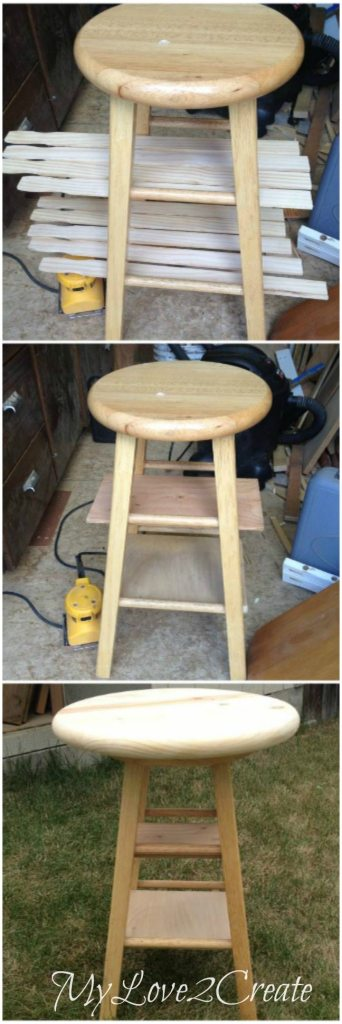 finding what wood to use for shelves on stool