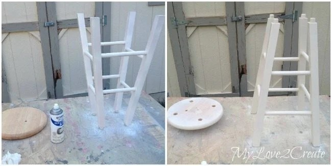 spray painting stool