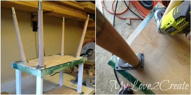 attaching legs to tray stand