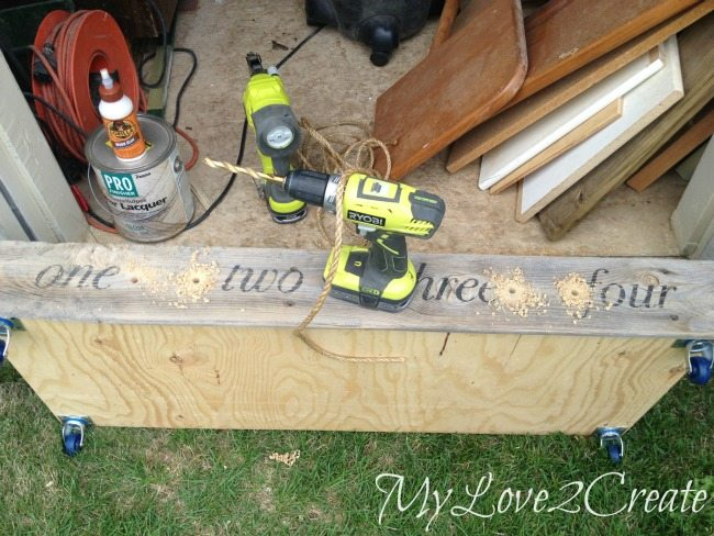 drilling holes for rope handles