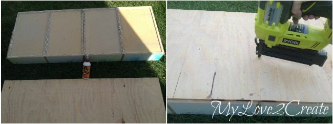 attaching plywood to bottom of drawers