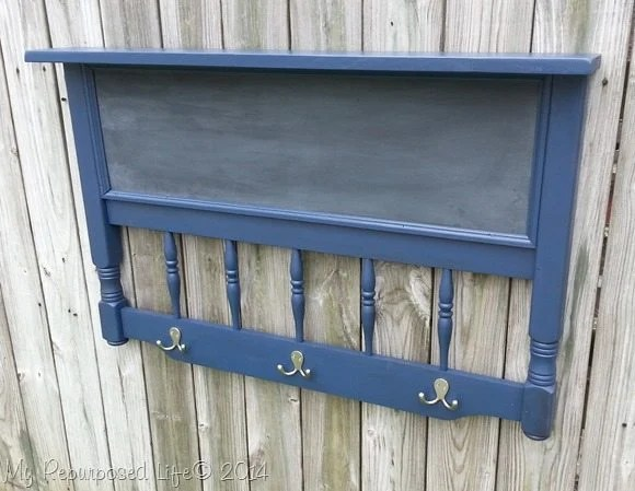 repurposed-headboard-coat-rack-chalkboard