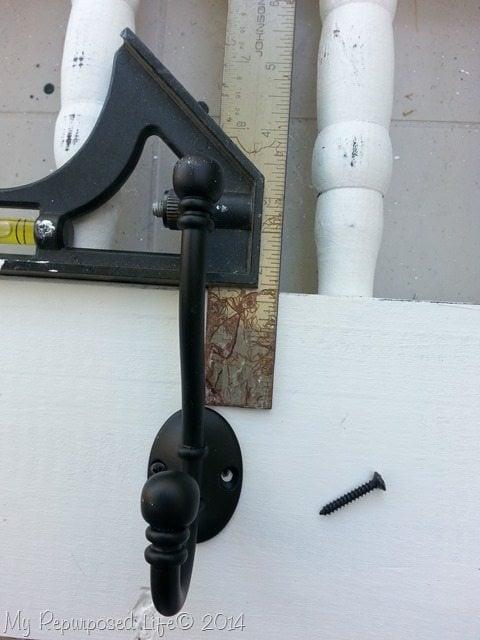how to add coat rack hooks