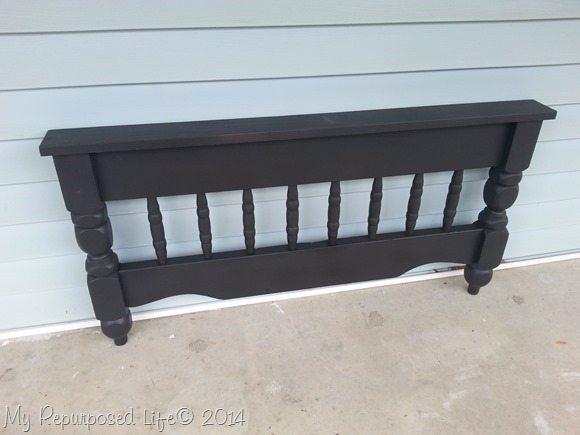 bunk bed repurposed coat rack black primer