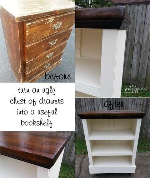 MyRepurposedLife-chest-of-drawers-bookshelf