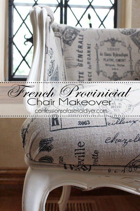 French-Provincial-Chair-Upholstery-Makeover