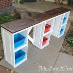 Repurposed Cabinet Doors into a Children's Desk