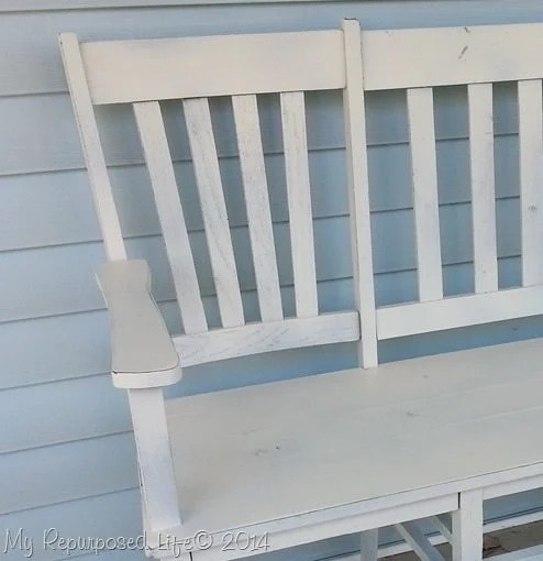 white-chair-bench-waxed-distressed