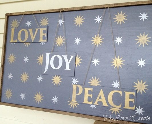 starry-night-rustic-Christmas-wall-decor