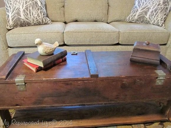 vintage ammo box coffee table
