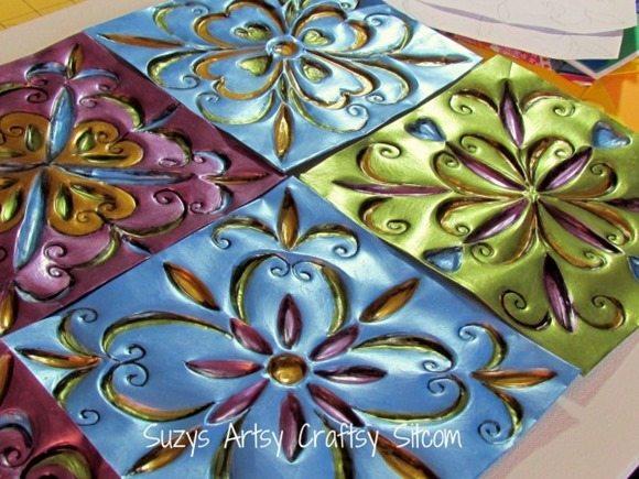 Faux-Tin-Tiles-disposable-cookie-sheets