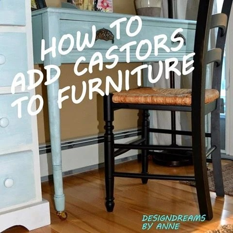 How to add castors to furniture1