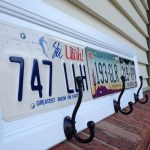 License Plate Cupboard Door Coat Racks