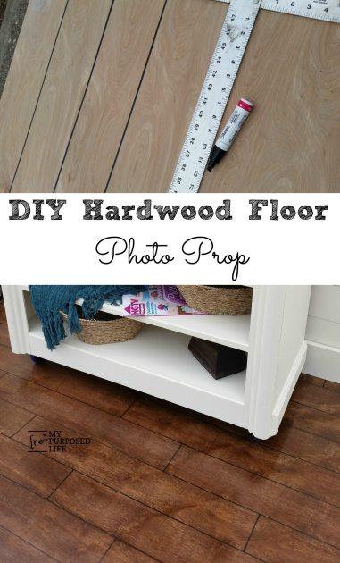 Hardwood Floor Photo Prop - My Repurposed Life®