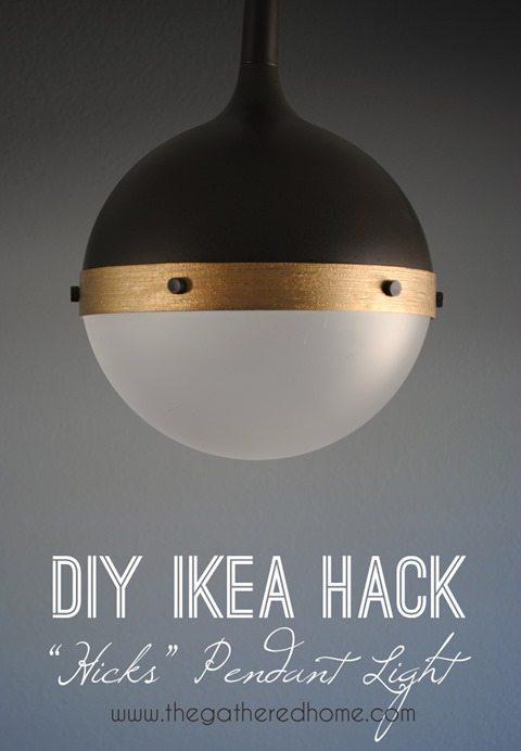 diy ikea hack hicks pendant light
