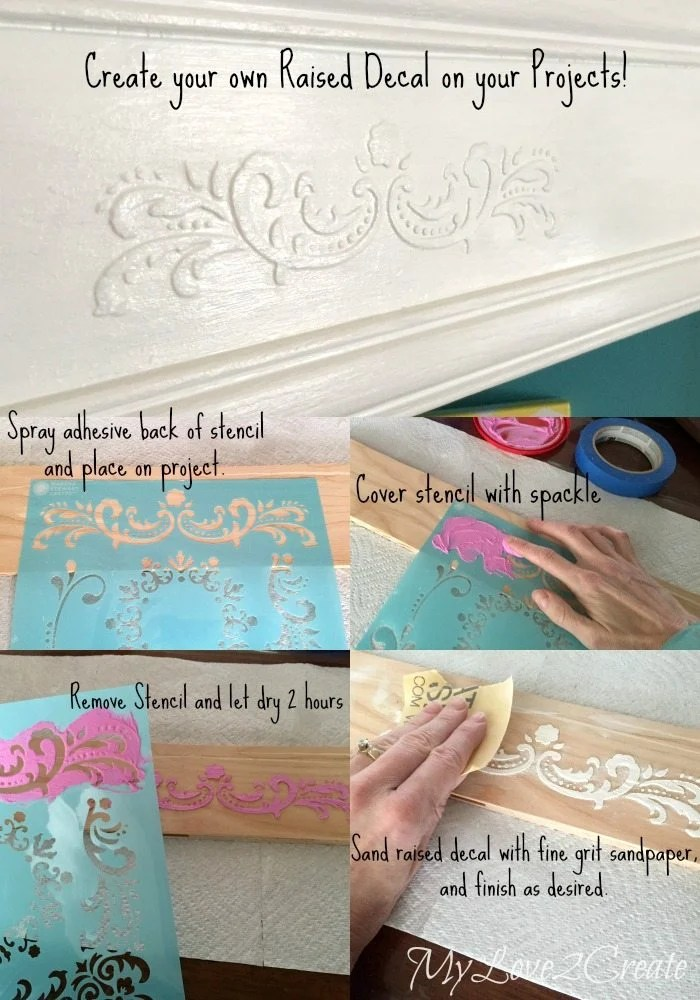 Raised decal tutorial with stencils and sparkle
