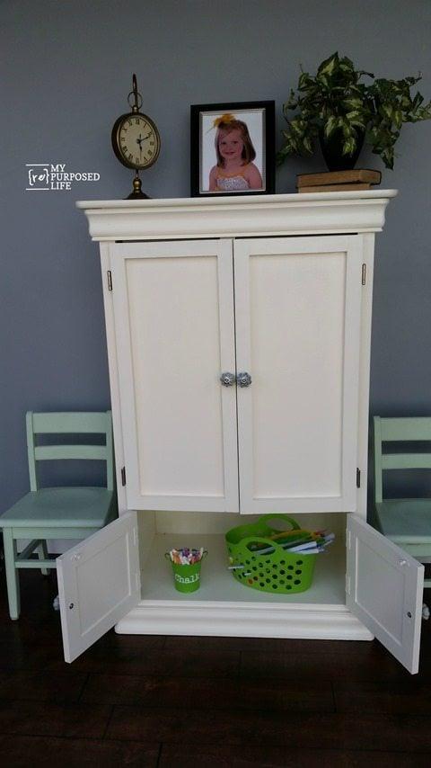 my-repurposed-life-armoire-kids-art-center