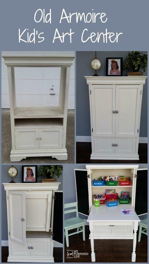 my-repurposed-life-old-armoire-repurposed-kids-art-center