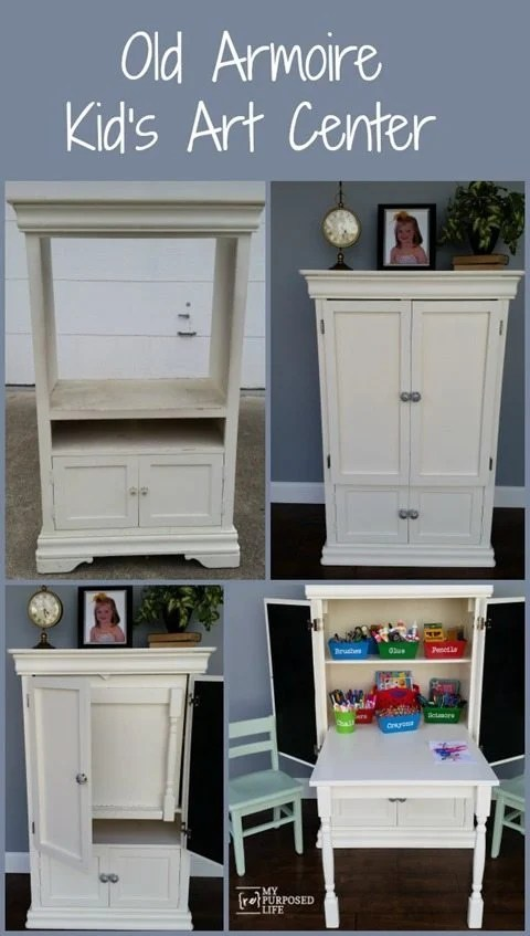 my-repurposed-life-old-armoire-repurposed-kids-art-center