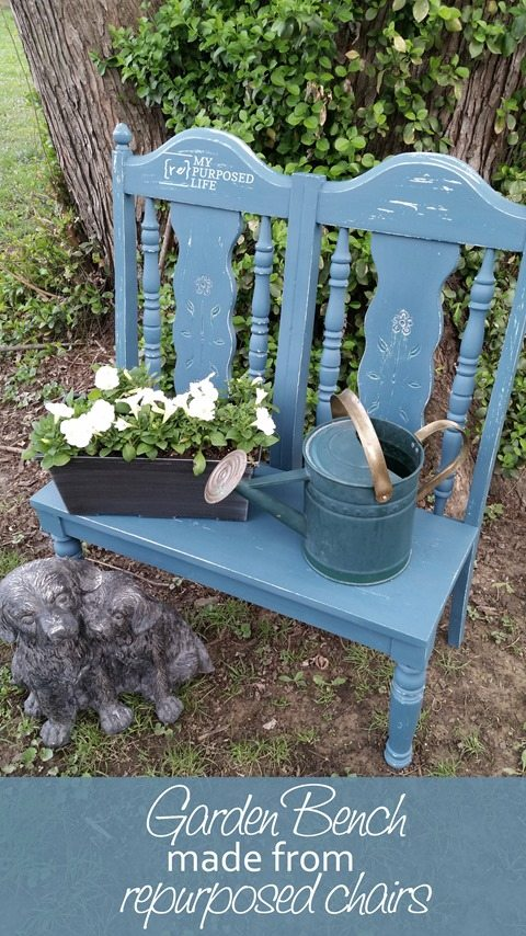myrepurposedlife-small-repurposed-chair-garden-bench