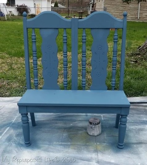 small-blue-chair-bench