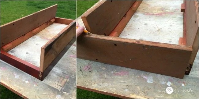 Measure end box pieces