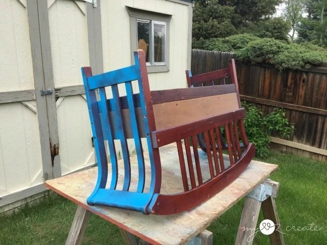 spray paint bench planter