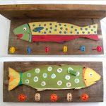 Reclaimed Wood Coat Rack using Tinker toys