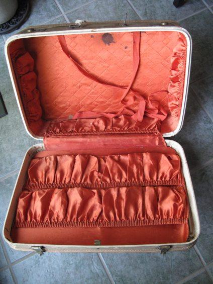 Vintage repurposed Suitcase Makeover -storage cabinet