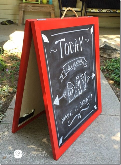 chalkboard easel out of picture frames, MyLove2Create