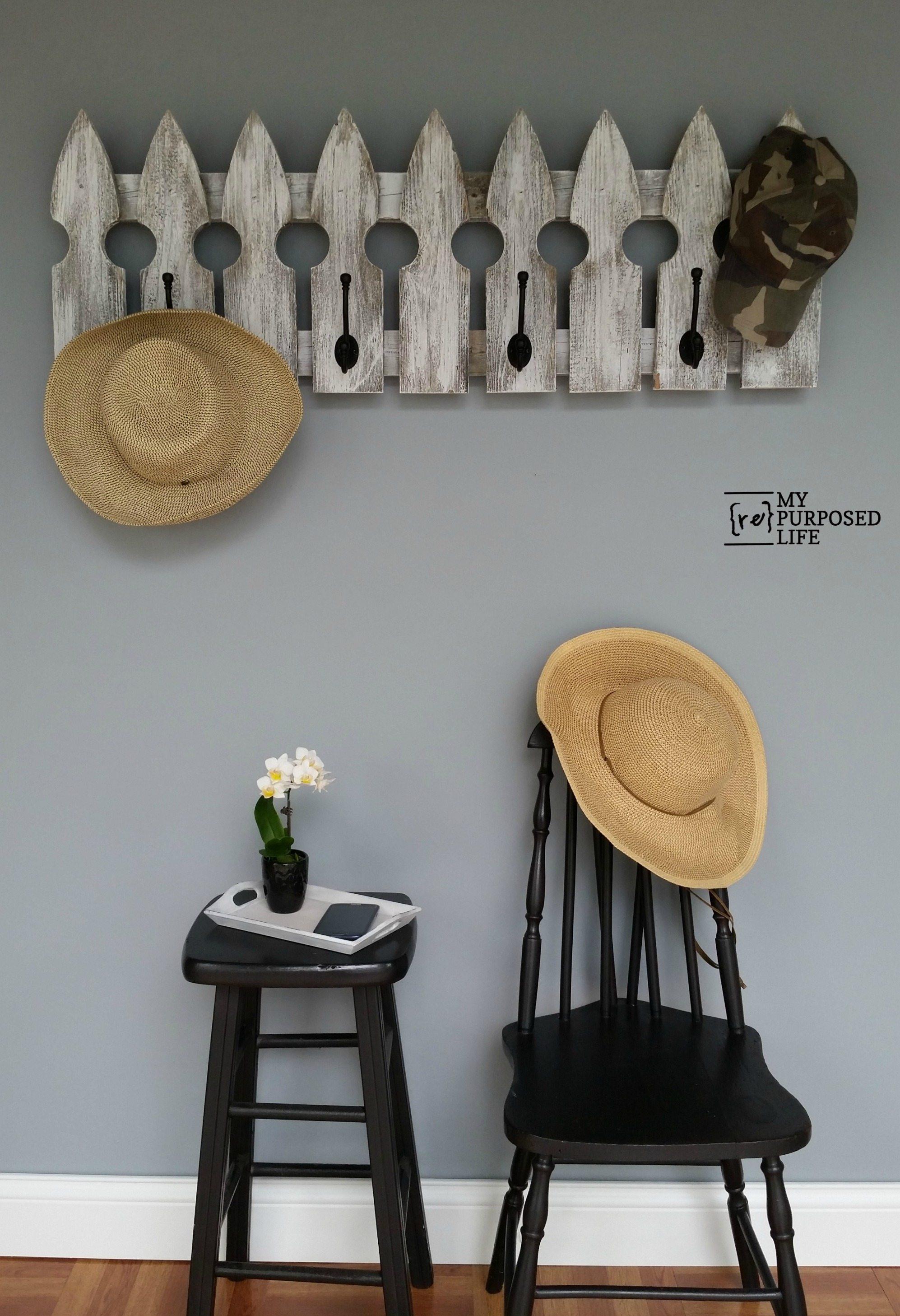 Picket Fence Coat Rack My Repurposed Life