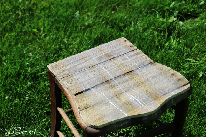 pallet wood chair seat