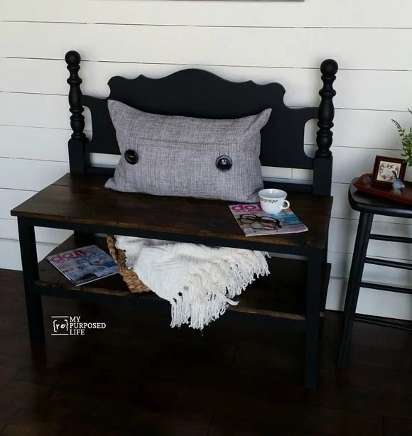 my-repurposed-life-black-headboard-bench